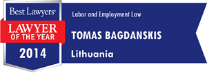 Tomas Bagdanskis lawyer of the year 2014